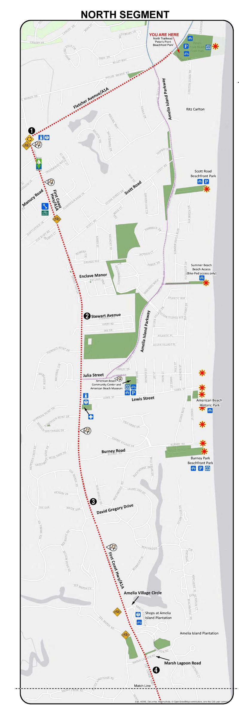 Where Is Amelia Island Florida On The Map.Amelia Island Trail Maps